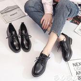 牛津鞋 小皮鞋女漆皮英倫黑色復古粗跟單鞋韓版百搭學生女鞋【全館9折】