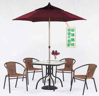 【南洋風休閒傢俱】戶外桌椅系列-80CM鋁合金玻璃方餐桌椅組 戶外休閒咖啡餐桌椅組 (HT332 063)