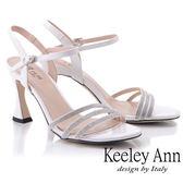 ★2019春夏★Keeley Ann耀眼新娘 水鑽鞋面細帶造型跟鞋(白色) -Ann系列