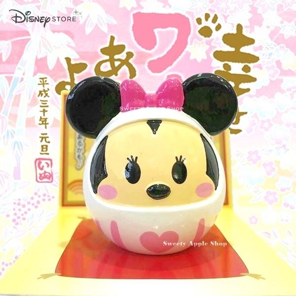 日本 Disney Store 迪士尼商店 限定 米妮 達摩造型 吉祥物 擺飾