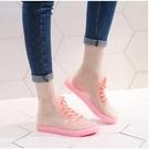 雨鞋 透明可愛成人短筒雨鞋女防水鞋防滑膠鞋套鞋韓國時尚款外穿雨靴夏
