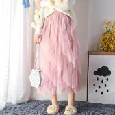紗裙女網紗半身裙子蛋糕裙中長款仙女裙網紅chic溫柔超仙 伊衫風尚