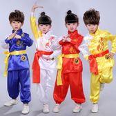 兒童武術服表演服裝短袖少兒中國功夫練功服男女童幼兒舞蹈演出服