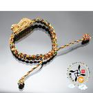 咬錢虎{虎爺}五色繩手鍊(大虎)   +平安加持小佛卡  【 十方佛教文物】