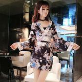 和服氣質包臀連身裙日本女裝夜場性感高腰日式【極簡生活館】
