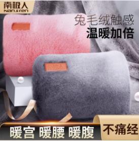 南極人熱水袋充電式防爆暖手寶寶敷肚子女可愛毛絨學生電暖寶水袋 蘿莉新品