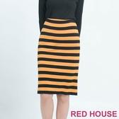 【RED HOUSE 蕾赫斯】條紋合身裙 (共二色)  滿1111折211