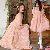 熱賣孕婦洋裝 孕婦裝夏裝上衣2021夏季時尚款網紅雪紡泡泡袖連身裙超仙夏天裙子【618 狂歡】