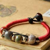 陶瓷手鍊-復古流行生日情人節禮物女串珠手環2色73gw52【時尚巴黎】