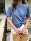 露臍上衣 打結網紅t恤ins潮短袖設計感女小眾短款女夏2021新款高腰露臍上衣 韓國時尚 618