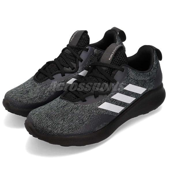 【五折特賣】adidas 慢跑鞋 Purebounce Street W 黑 銀 舒適緩震 女鞋 運動鞋【ACS】 BC1031