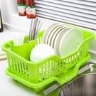 置物架 廚房放碗架 塑料用品瀝水滴水碗碟架碗筷收納置物架收納盒【快速出貨八五鉅惠】