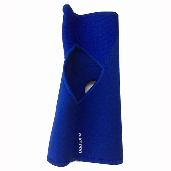 Nike Pro Open Patella [NMS55413LG] 運動 防護 支撐 開洞式 護膝 藍 L