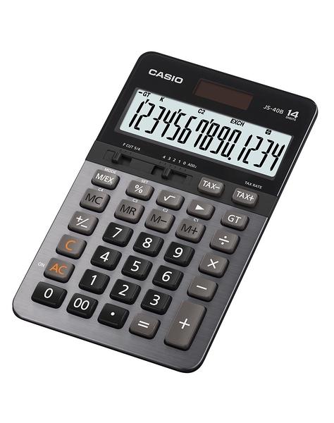 義大文具~CASIO卡西歐 JS-40B 商用專業型14位計算機 / 台(同JS-40TS)