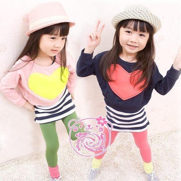 韓版《俏皮大愛心》兩件式長袖小套裝~洋裝