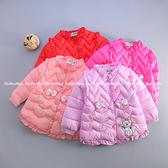 女寶寶鋪棉保暖厚外套 可愛粉仿羽絨嬰幼兒防風夾克 YN14617 好娃娃