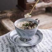 咖啡杯 歐式小奢華 套裝陶瓷金邊大理石風格馬克杯早餐杯下午茶杯   草莓妞妞