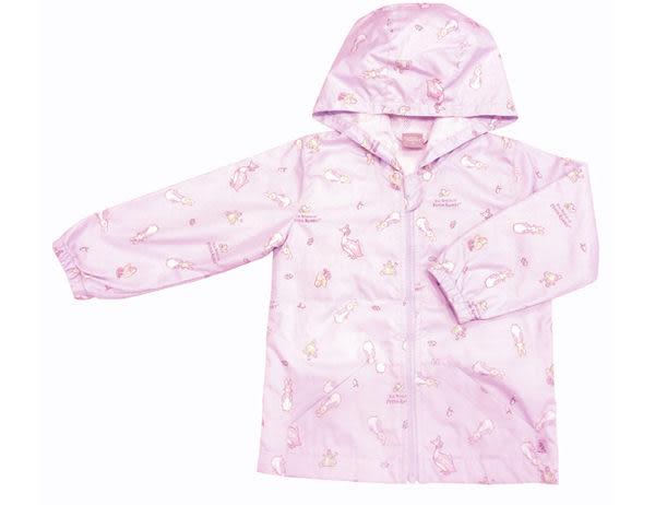 奇哥 比得兔攜帶型防風雨連帽外套-5歲 粉/藍