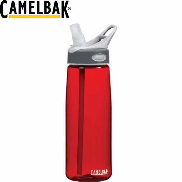 【CamelBak 美國750ml吸管運動水瓶 正紅】 53230/運動水壺/水壺/耐撞擊/抗菌/提把/登山/露營★滿額送