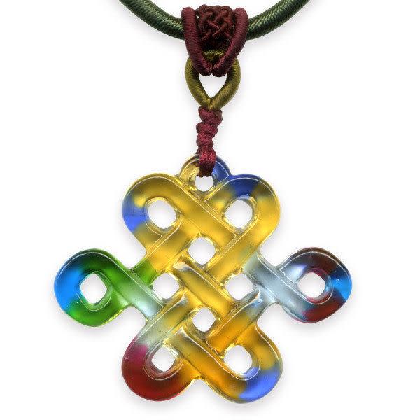 鹿港窯~居家開運水晶琉璃項鍊~盤長如意 附精美包裝◆免運費送到家