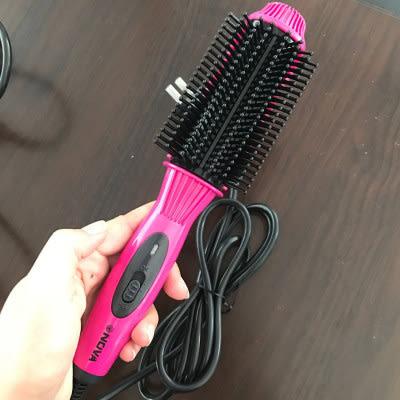 精品 3色可選NOVA直髮梳不傷髪陶瓷夾板直捲兩用負離子空氣瀏海內扣捲髪棒神器 歐韓時代