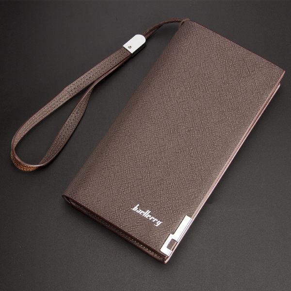 baellerry長夾 優質大容量十字紋長皮夾 手機錢包 手拿包  SW005-寶來小舖 現貨供應