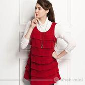 【ohoh-mini 孕婦裝】搖搖女孩層次長版孕婦上衣