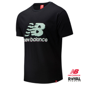 New balance 黑色 棉質 短袖 T恤 男款 NO.H2896【新竹皇家 AMT01553BK】