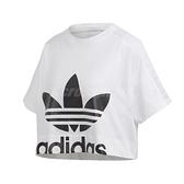 adidas 短袖T恤 Lace Tee 白 黑 女款 短T 短版 蕾絲 運動休閒 【ACS】 FL4128