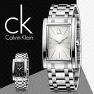 CK手錶專賣店 K4P21146 白 男錶 中性錶 石英 礦物玻璃鏡面 蝴蝶扣方形設計 不鏽鋼錶殼錶帶