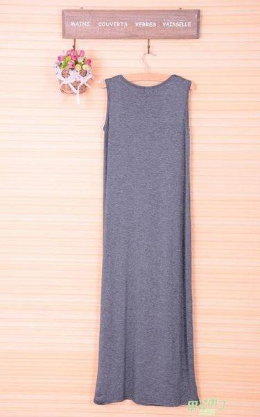 (交換禮物)夏女裝新品正韓無袖背心長裙大尺碼打底裙寬鬆吊帶連身裙