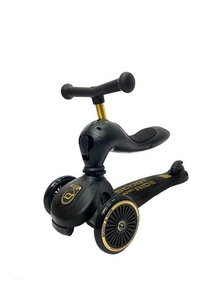奧地利 Scoot & Ride Cool二合一飛滑步車/滑板車(黑金)【六甲媽咪】
