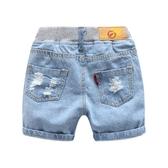 全館83折寶寶破洞牛仔短褲 2019夏裝新款男童童裝兒童休閒褲子kz-b086