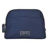 【南紡購物中心】agnes b. 金屬邊框方牌化妝包-大/深藍