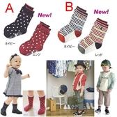 *甜蜜蜜親子童裝*百搭《點點條紋款》可愛短襪 ((2雙組)) (W-2)