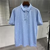 牛貨!撿漏了!剪標透氣珠地網眼男式POLO衫夏季翻領短袖T恤