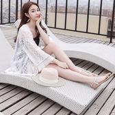 刺繡流蘇披肩夏季新款防曬衣女裝薄蕾絲開襟