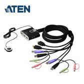 【台中平價鋪】全新 ATEN宏正 CS692 2埠帶線式KVM切換器(HDMI/1920x1200/SP)