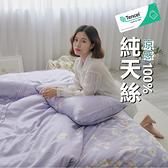 『TCL34』奧地利100%TENCEL涼感純天絲5尺標準雙人床包枕套三件組(不含被套)床單 床套 床巾