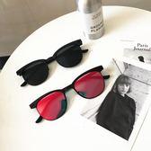 韓國百搭經典男士墨鏡簡約歐美復古風潮男方形太陽鏡男女同款眼鏡