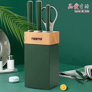 品愛生活 TEENS 時尚精藝廚房不鏽鋼刀具組5件套(橄欖綠)