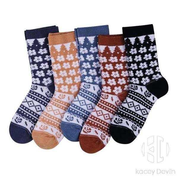 襪子女春秋棉襪日系森女原宿楓葉中筒襪韓國學院風潮學生可愛長襪【Kacey Devlin】
