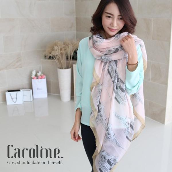 《Caroline》★甜美時尚百搭圍巾.韓國流行秋冬明星同款圍巾 67123