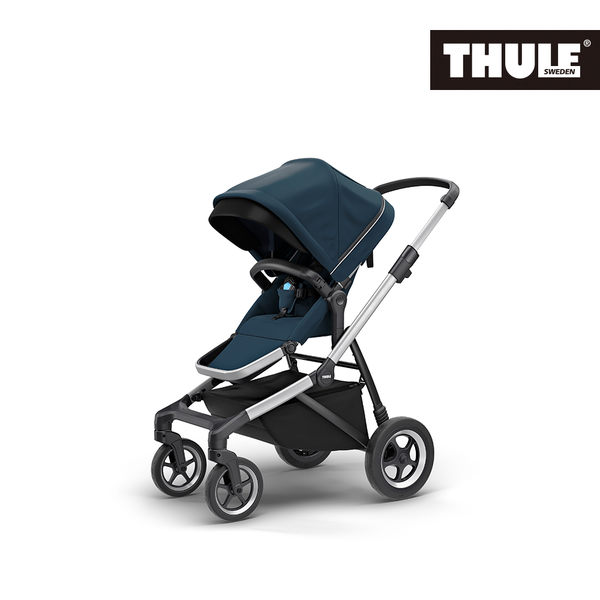 THULE-SLEEK 四輪嬰兒手推車-藍色