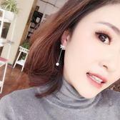 925銀針簡約百搭仿珍珠蝴蝶結耳釘女韓國氣質耳環耳墜首飾品 初語生活館