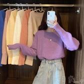 毛衣毛衣新款女秋冬寬鬆外穿日繫復古港風針織衫ins套頭顯瘦上衣 町目家