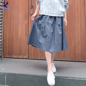 【春夏新品】American Bluedeer - 鋸齒剪接裙(特價)