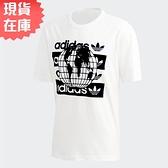 【現貨】Adidas R.Y.V. 男裝 上衣 短袖 休閒 純棉 地球 白【運動世界】FM2256