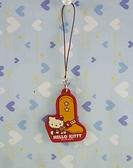 【震撼精品百貨】Hello Kitty 凱蒂貓~手機吊飾-紅鞋