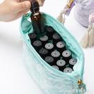 新品精油包15ML便攜收納包蕾絲手拿隨身袋多特瑞適用口紅化妝品包 交換禮物